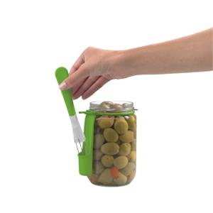 Chef'n Tasteful Ingenuity Fridge Fork Condiment Fork Pickle Grabber Olive Grabber