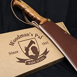 woodmans pal machete axe knife made in usa multi tool brush clearing