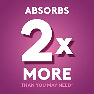 Absorbs 2x more than you may need