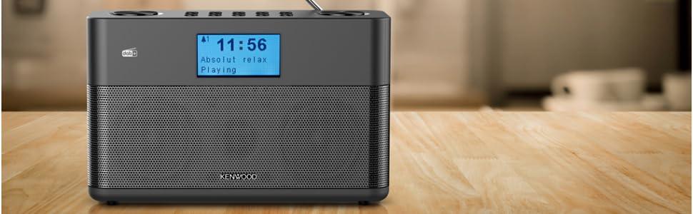 Kenwood Cr St50dab B Stereo Kompaktradio Dab Ukw Bluetooth Line In Kopfhöreranschluss Weckfunktion Farbe Schwarz Heimkino Tv Video