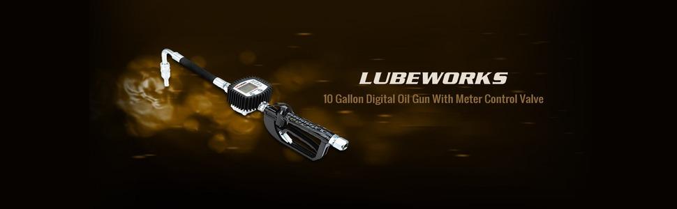 goodyear lubeworks air operated oil fluid transfer pump control valve meter gun 3:1 5:1 50:1 sae