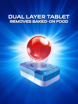dual layer tablet removes baked on food