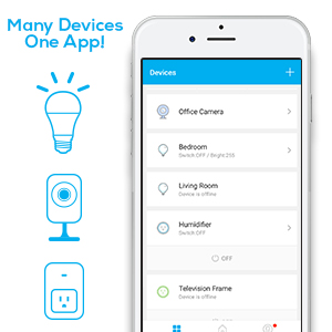 Geeni Wi-Fi LED Light Bulb-Soft White, Dimmable, A19, No Hub