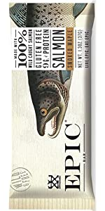 Epic All Natural Meat Bar, 100% Wild Caught, Salmon, Smoked