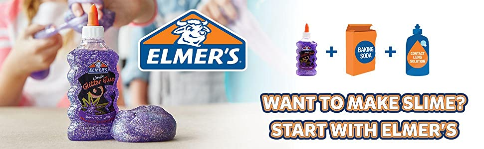 Amazon elmers slime starter kit clear school glue and pink view larger ccuart Image collections