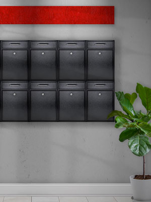 Security Locking Dropbox apartment office cluster mount mailbox