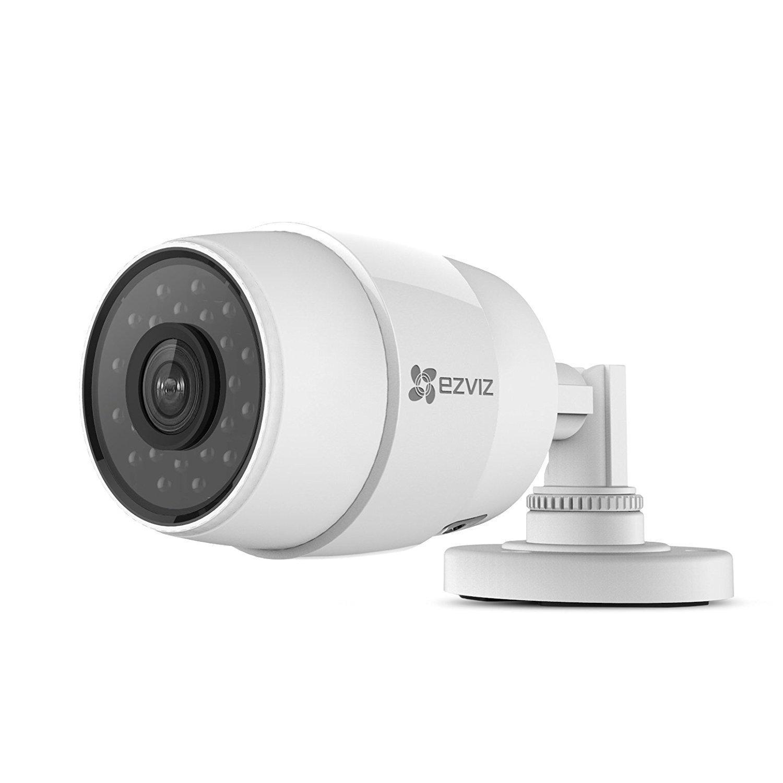ezviz ezhuskyc wi fi outdoor surveillance camera white. Black Bedroom Furniture Sets. Home Design Ideas