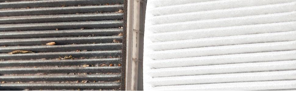 cabin air filter clean vs dirty