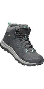 KEEN Women's Terradora 2 Leather Mid Height Waterproof Hiking Boot comparison chart