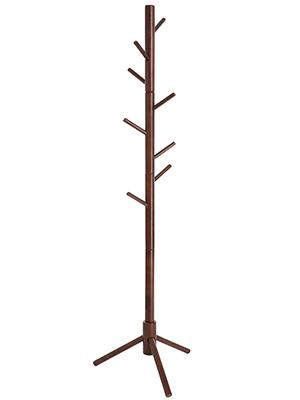 Amazon Com Vasagle Coat Rack Solid Wood Coat Stand Free Standing Hall Coat Tree With 8 Hooks For Coats Hats Bags Purses For Entryway Hallway Rubberwood Dark Walnut Urcr04wn Home Improvement