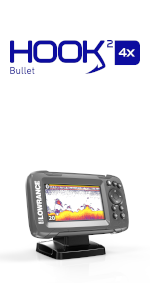 Amazon com: Lowrance HOOK2 4X - 4-inch Fish Finder with
