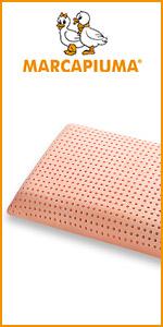 Marcapiuma Matelas coussin bio Clean savon lavable machine frais rigide orange top