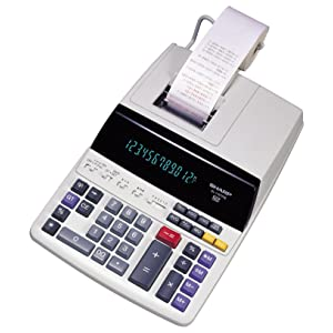 Adding machine printing calculator large display desktop easy to use fast ink roller ribbon