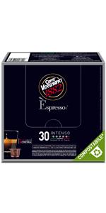 caffè vergnano capsule compostabili espresso compatibili nespresso intenso