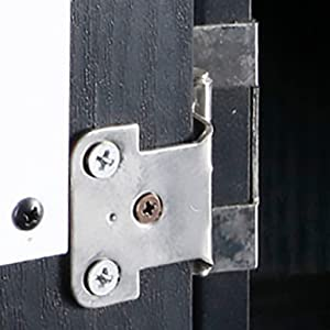 Darboard cabinet chrome hinges