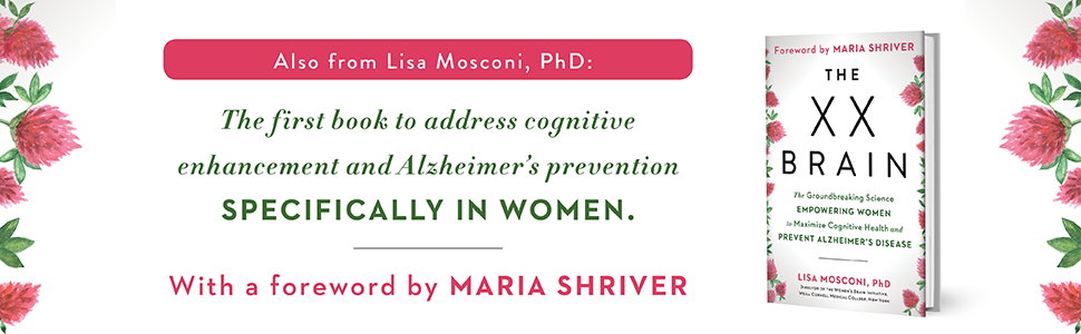 Alzheimers, cognitive functions, health books, Lisa Mosconi, the XX Brain