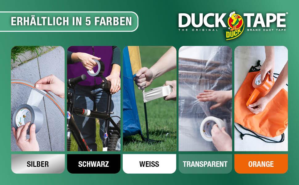 Duck Tape verkrijgbaar in 5 kleuren