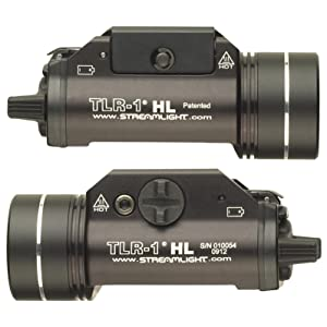 Streamlight 69260 TLR-1 HL Rail-Mounted Tactical Light, left and right image.
