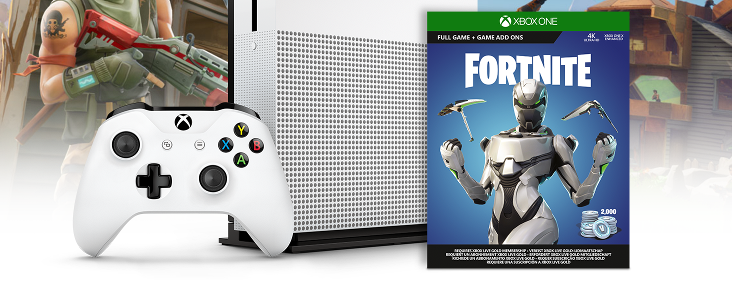 Microsoft Xbox One S - Consola de 1 TB, Color Blanco + Fortnite ...
