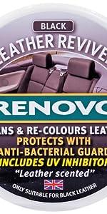 Renovo 200ml Leather Reviver, Lederauffrischer, Schwarz,