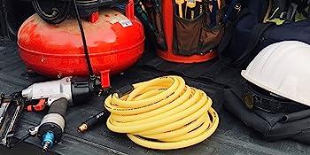 Hybrid Hose Compressor Hardhat Tools Truck