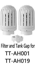 filter and tank gap for TaoTronics humidifier
