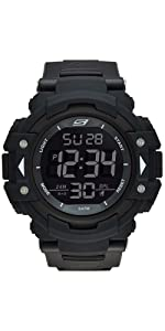 ... Keats 55MM Sport Digital Chronograph Watch with Fast Wrap Strap and Plastic Case ...