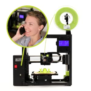 LulzBot Mini 2, Whisper-Quiet Printing, Happy Woman on the phone