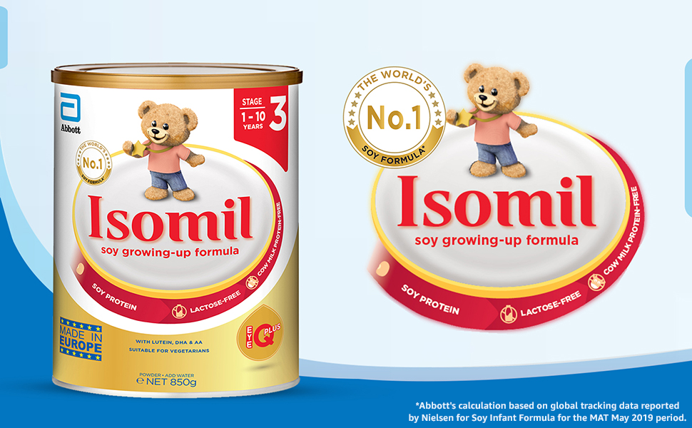 Isomil Soy growing up milk formula, stage 3