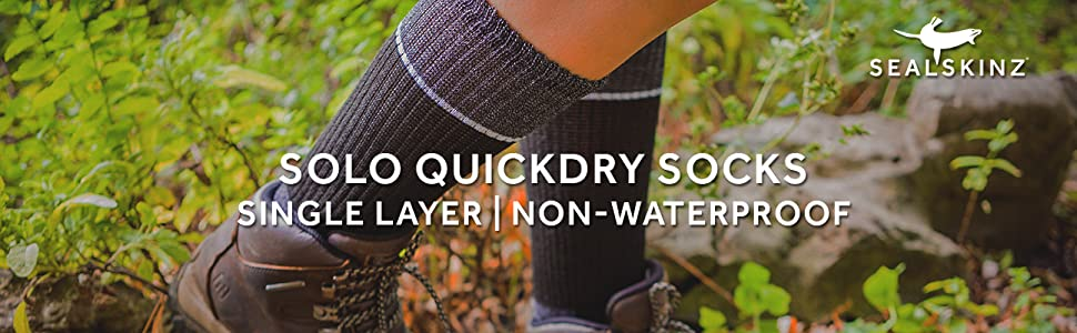 Solo Quickdry Ankle sock Purple//Grey//Light grey S  Anti-Blister SealSkinz