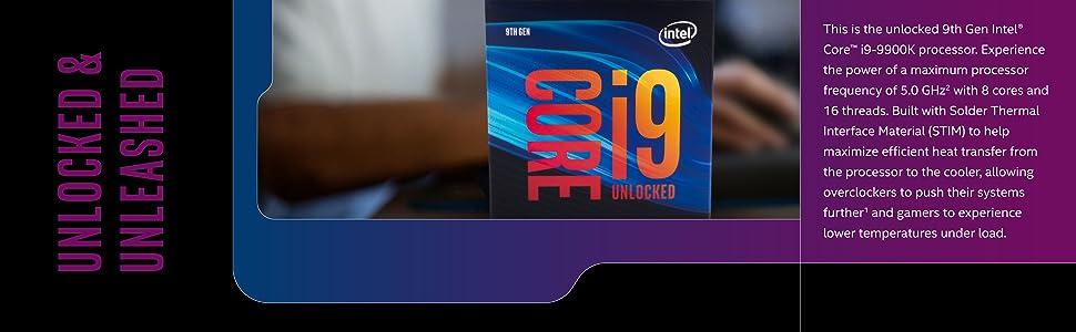 9th Gen Intel Core i9-9900K Processor Box