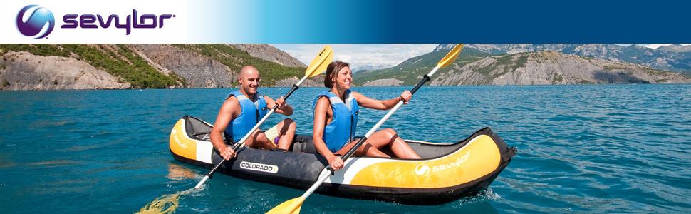Sevylor Colorado Kit Kayak Hinchable, Kayak de Mar 2 Personas ...