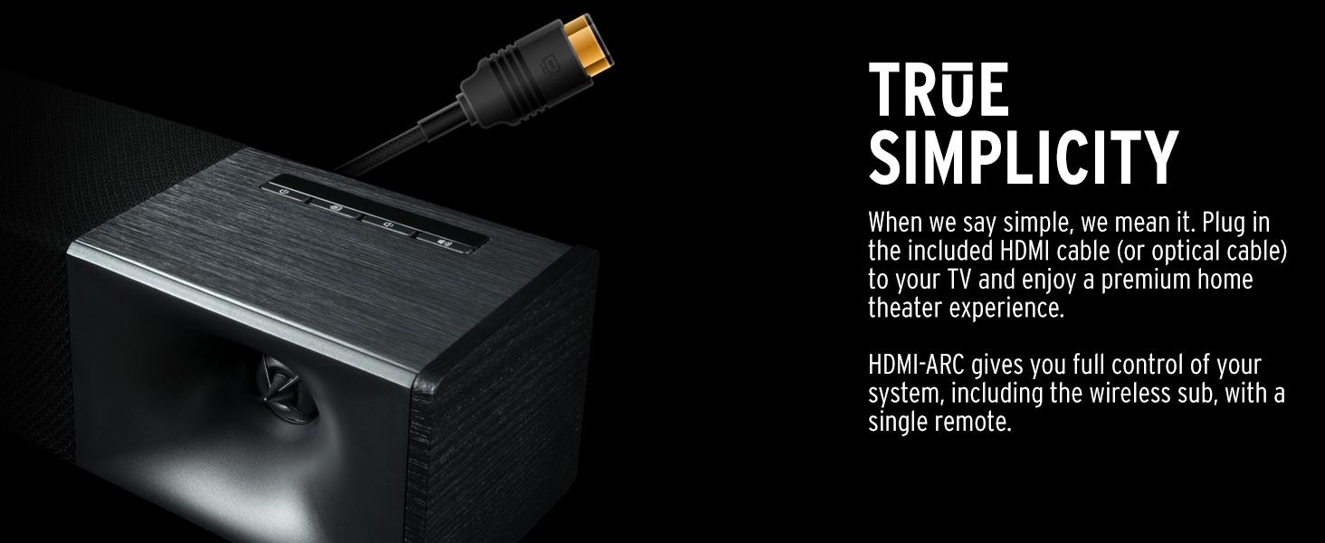 Klipsch Cinema 400 sound bar, wireless subwoofer, best sound bar