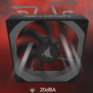 Nfortec Aquila 80 - Ventilador suplementario, color negro: Amazon.es: Informática