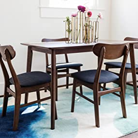 BLAIR Small Dining Table - Mid-Century Modern Dining Table 47 inches -  Walnut