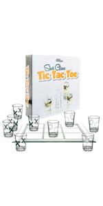 Fairly Odd Novelties SHOT GLASS TIC TAC TOE Fun Party Board Drinking Game