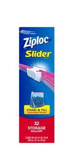 Ziploc स्लाइडर भंडारण गैलन बैग