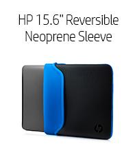 """HP 15.6"""" Reversible Neoprene Sleeve - Blue (Chroma, V5C31AA)"""