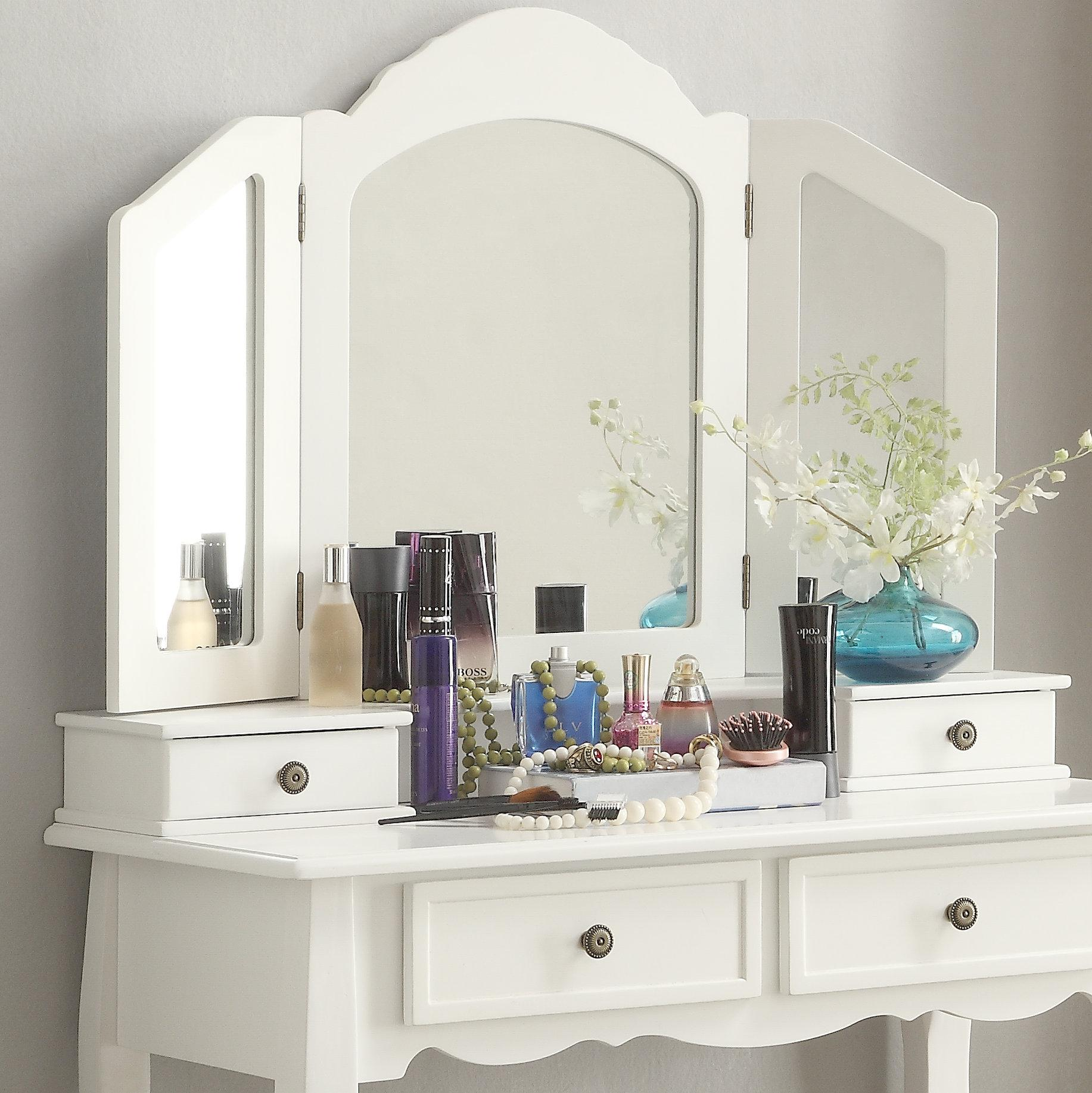 Amazon Com Roundhill Furniture Sanlo White Wooden Vanity