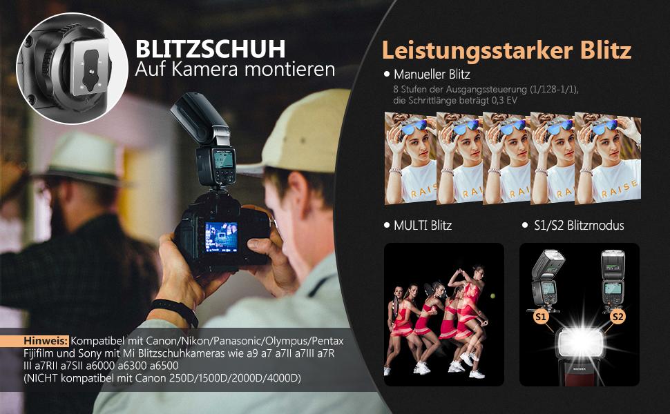 Neewer Nw561 Lcd Display Blitz Speedlite Für Canon Kamera