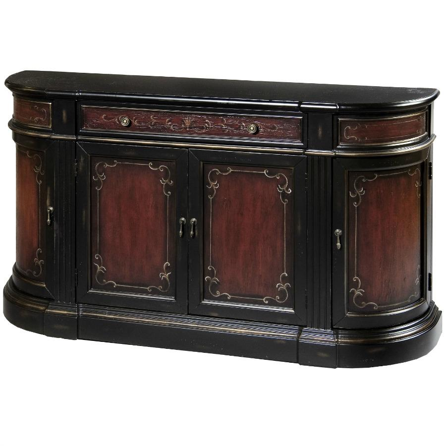 Pulaski Sandy Credenza 63 By 15 By 36 Inch Red Brown