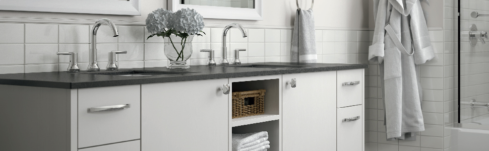 Kitchen and bath cabinet hardware