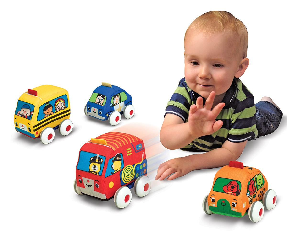 Toddler Toys Cars : Amazon melissa doug pull back vehicles soft baby
