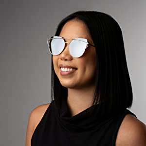 sunglasses under 10,cat eye rose gold,trendy girl,cute fun,mirrored sunglasses cheap,reflective