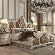 PU & Antique Pearl Eastern King Bed