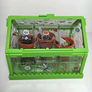Tiny Greenhouse, Kids Gardening Kit, Stickers, Hamsters, Smallest Greenhouse, Tiny plant, vegetables