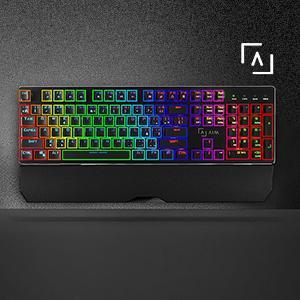AIM - Teclado mecánico Gaming, RGB, 19 Efectos, Software, Switch Rojo