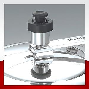 Prestige Induction Base Aluminium Pressure Cooker, 2 Litres,Silver