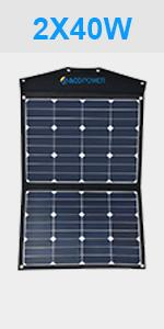 Acopower 80 Watt Foldable Solar Panel Kit