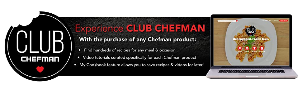 Cooking recipes, club chefman, perfect results